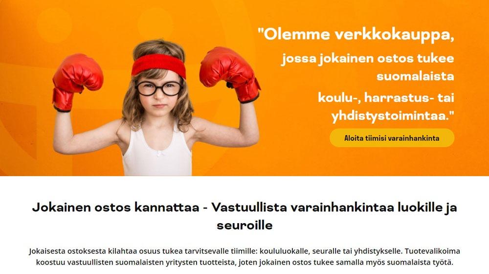 TuoTiimiä.fi-sivuston banner ja esittelyteksti.